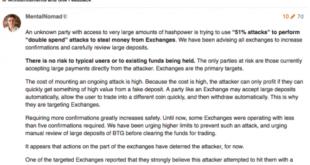 Блокчейн-сеть Bitcoin Gold по-прежнему несет последствия спустя неделю после хакерской атаки